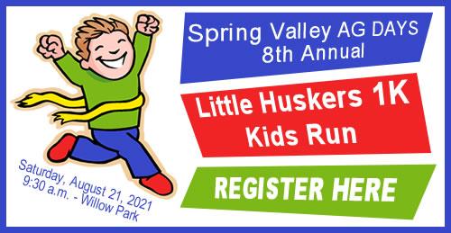 Spring Valley Ag Days LIttle Huskers 1k Sign Up